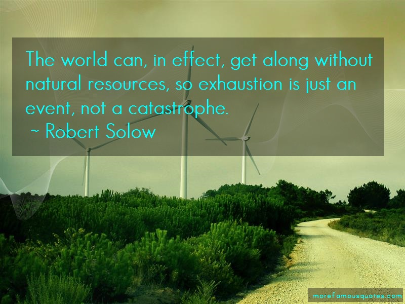 Robert Solow Quotes: The world can in effect get along