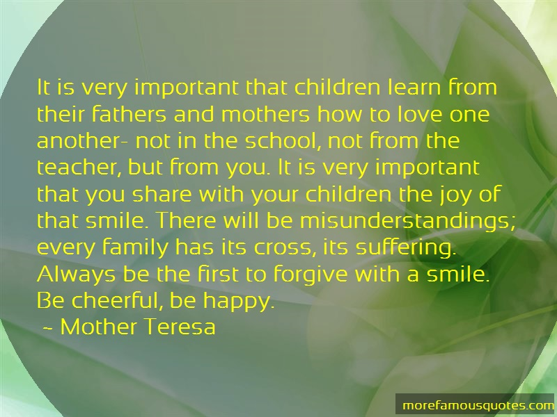 Mother Teresa Quotes: It Is Very Important That Children Learn