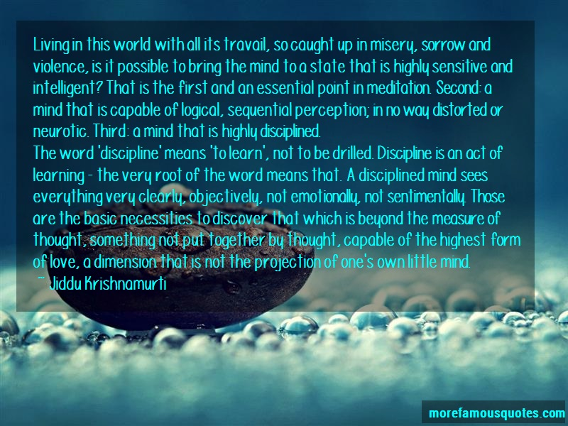 Jiddu Krishnamurti Quotes: Living In This World With All Its