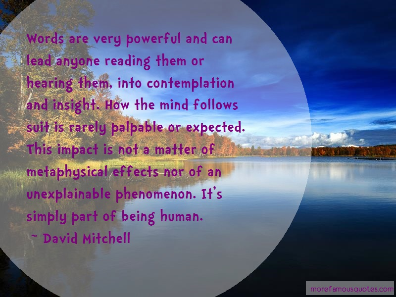 David Mitchell Quotes: Words Are Very Powerful And Can Lead