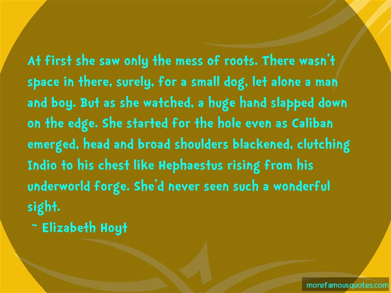 Elizabeth Hoyt Quotes: At First She Saw Only The Mess Of Roots