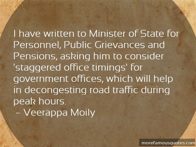Veerappa Moily Quotes: I Have Written To Minister Of State For