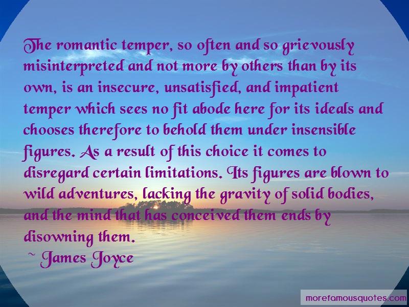 James Joyce Quotes: The Romantic Temper So Often And So