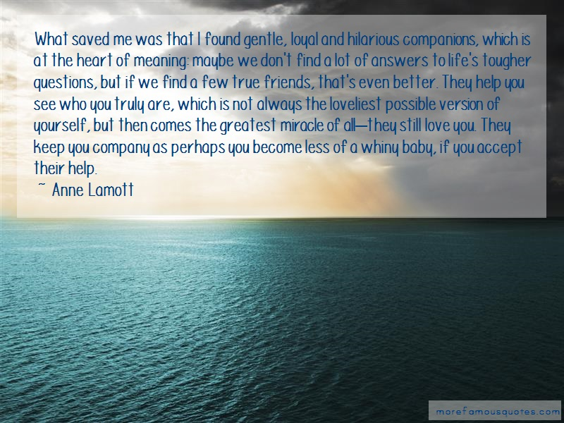 Anne Lamott Quotes: What Saved Me Was That I Found Gentle
