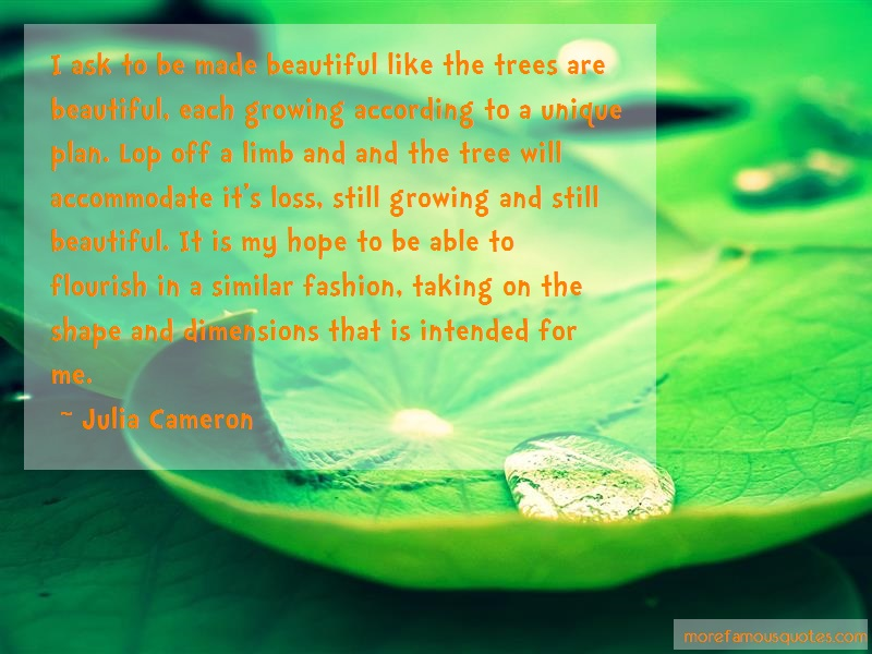 Julia Cameron Quotes: I Ask To Be Made Beautiful Like The
