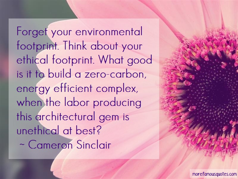 Cameron Sinclair Quotes: Forget your environmental footprint