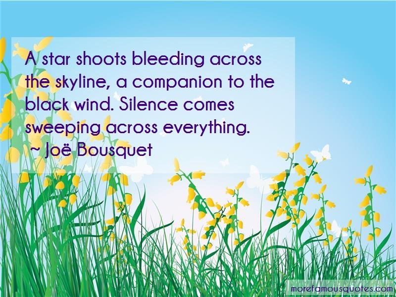Joe Bousquet Quotes: A star shoots bleeding across the