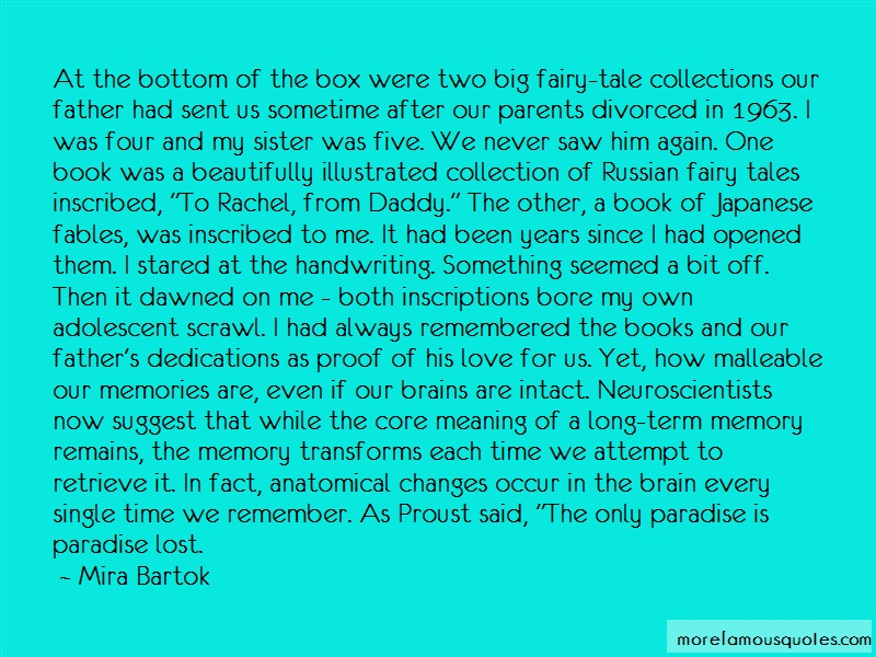 Mira Bartok Quotes: At The Bottom Of The Box Were Two Big