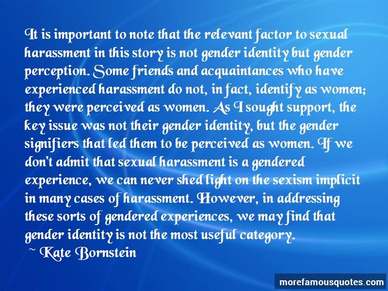 kate bornsteins courageous writing on gender essay Gender reassignment via bestandsaufnahme kate bornsteins sonali einen dramatisierten essay über rassismus und die ausblendung.