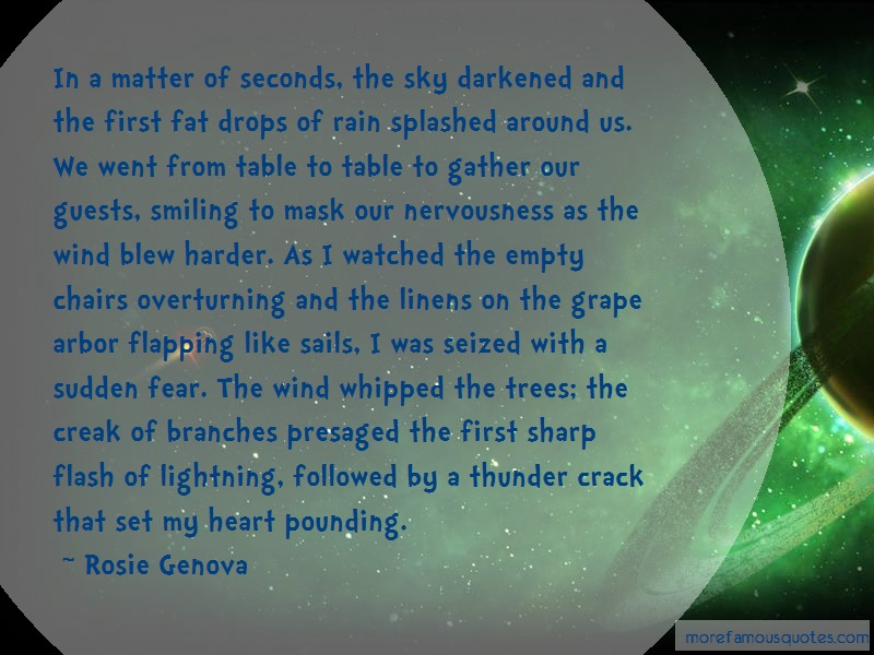 Rosie Genova Quotes: In A Matter Of Seconds The Sky Darkened