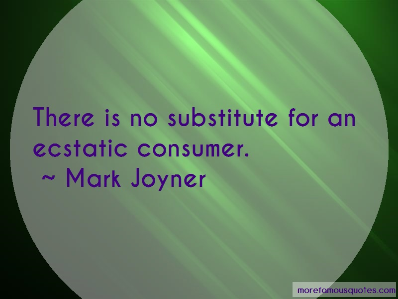 Mark Joyner Quotes: There Is No Substitute For An Ecstatic