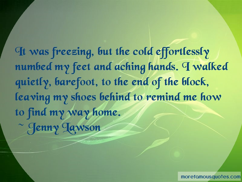 Jenny Lawson Quotes: It was freezing but the cold