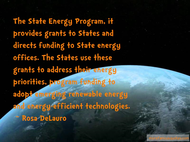 Rosa DeLauro Quotes: The state energy program it provides