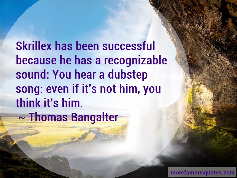 Thomas Bangalter Quotes: Skrillex has been successful because he