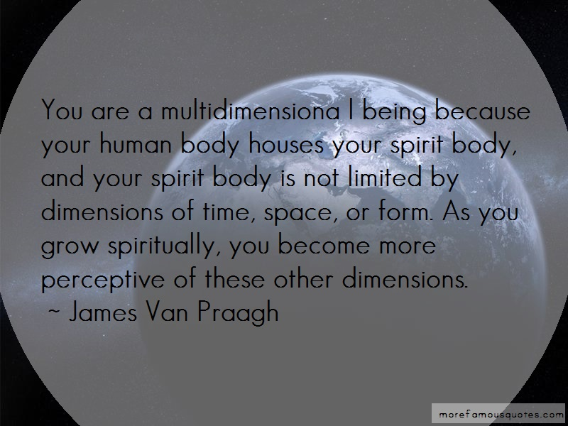 James Van Praagh Quotes: You are a multidimensiona l being