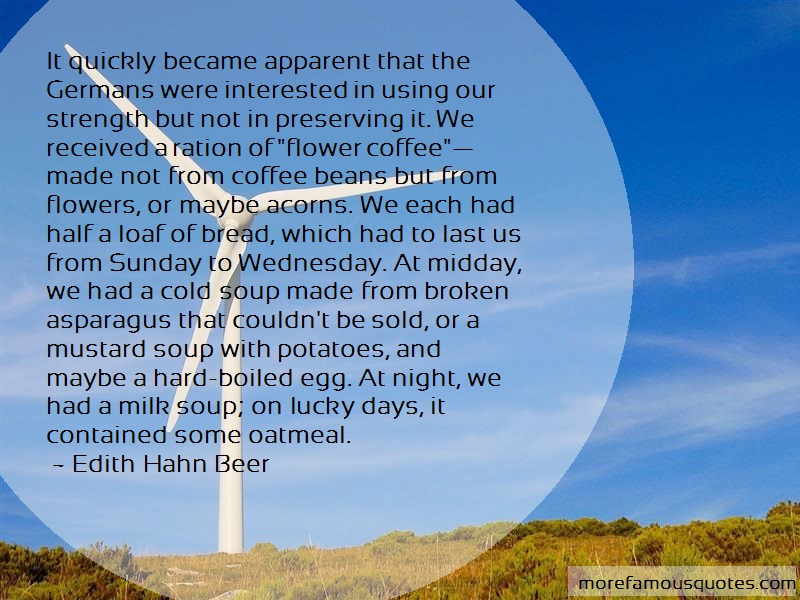 Edith Hahn Beer Quotes: It quickly became apparent that the