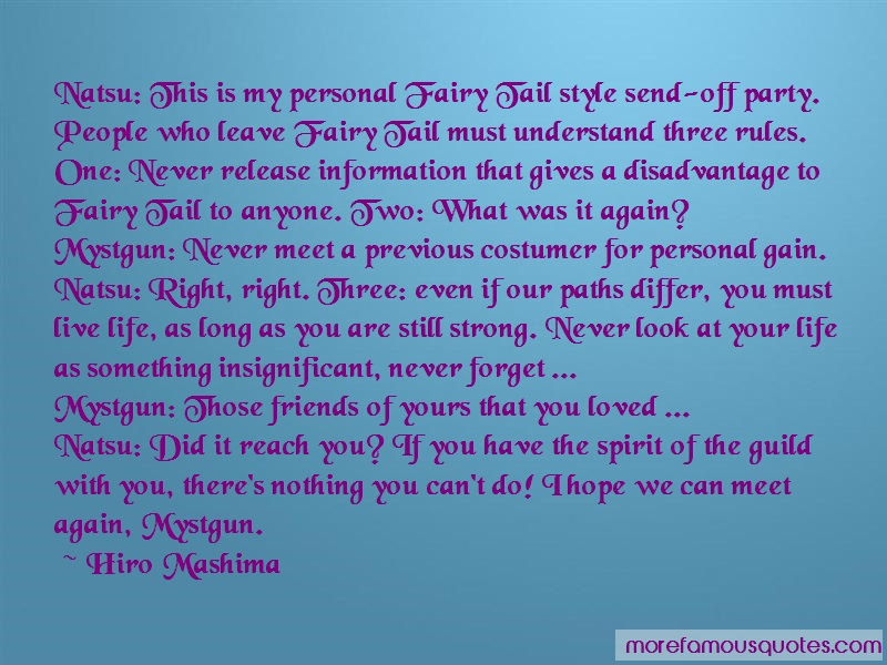 Hiro Mashima Quotes: Natsu this is my personal fairy tail