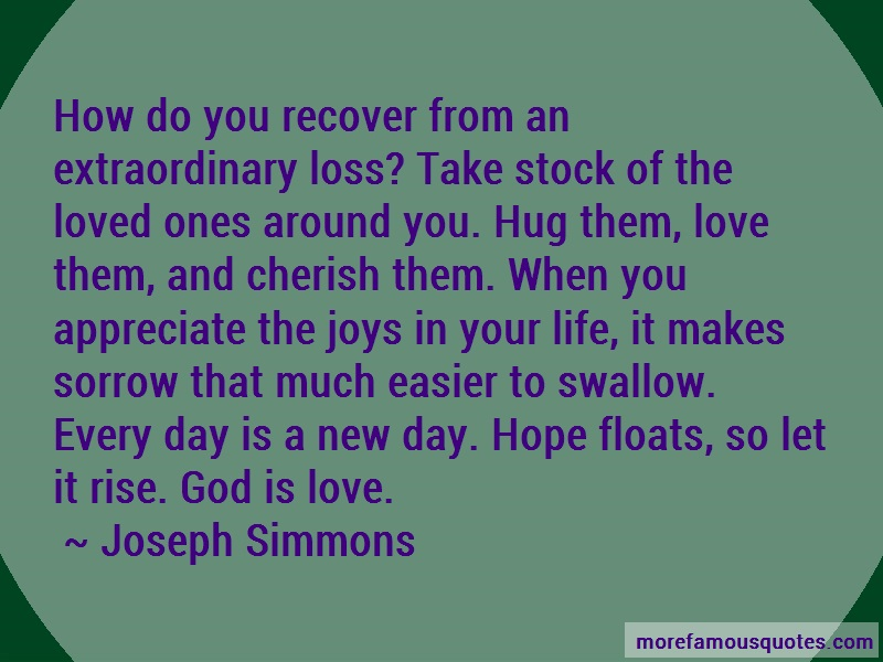 Joseph Simmons Quotes: How do you recover from an extraordinary