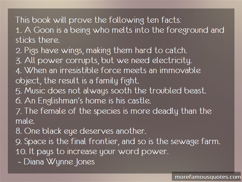 Diana Wynne Jones Quotes: This Book Will Prove The Following Ten