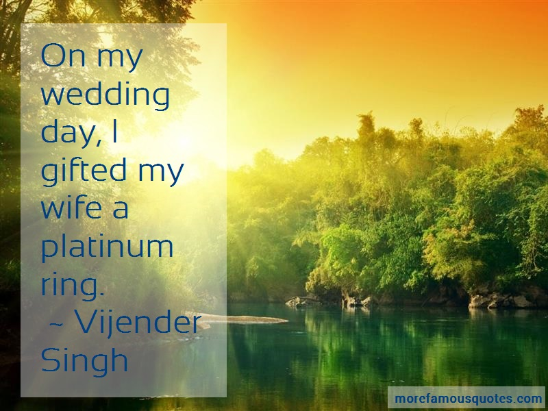 Vijender Singh Quotes: On My Wedding Day I Gifted My Wife A