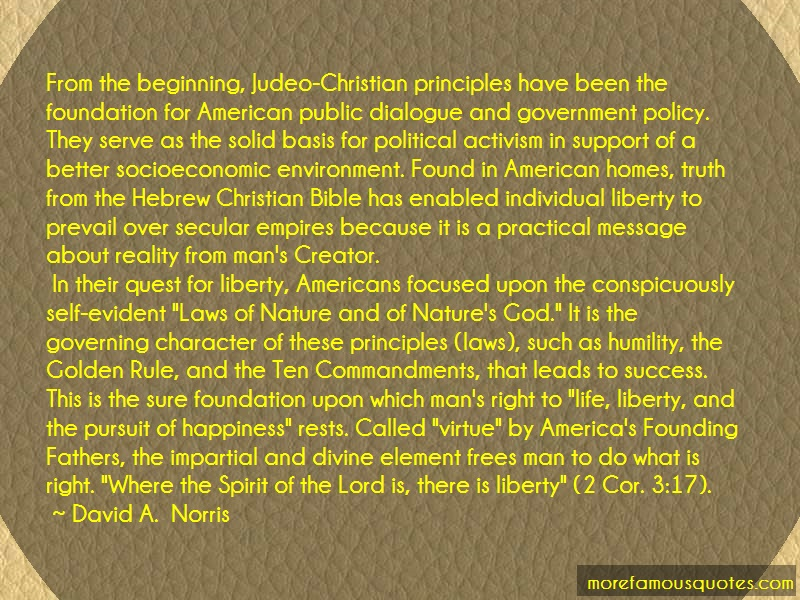 David A. Norris Quotes: From The Beginning Judeo Christian