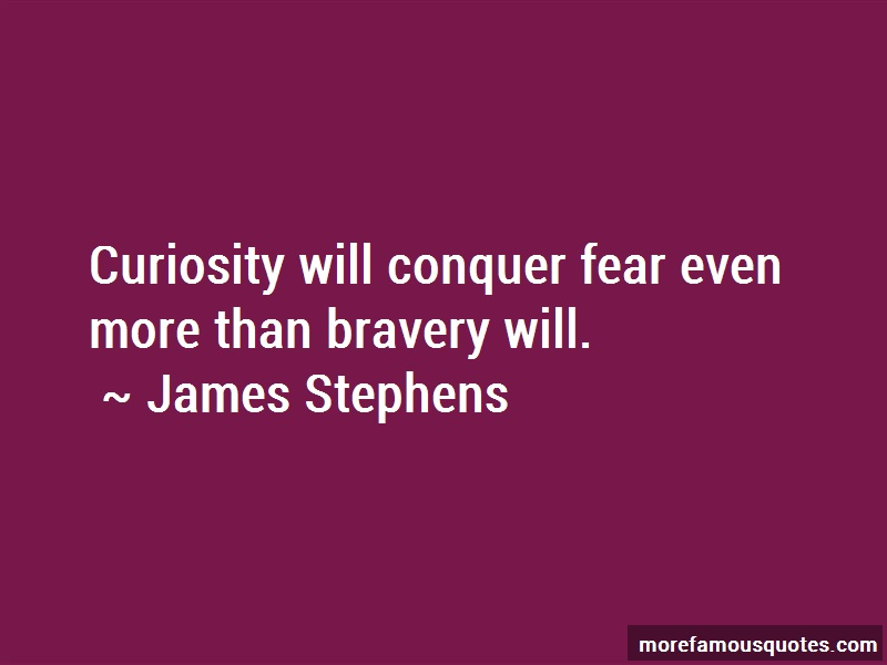 James Stephens Quotes: Curiosity will conquer fear even more