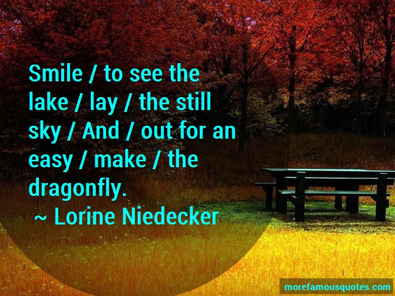 Lorine Niedecker Quotes: Smile to see the lake lay the still sky