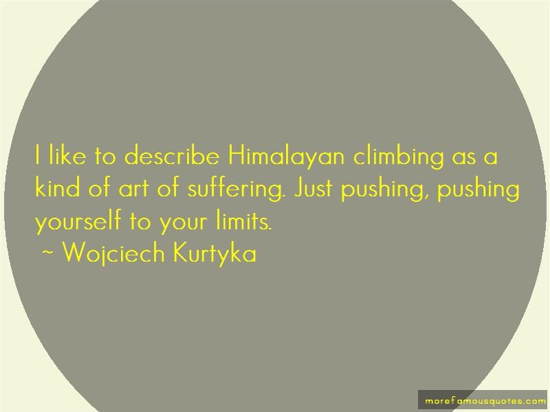 Wojciech Kurtyka Quotes: I Like To Describe Himalayan Climbing As