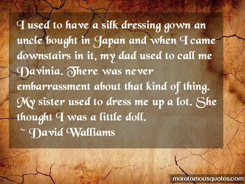 David Walliams Quotes: I used to have a silk dressing gown an