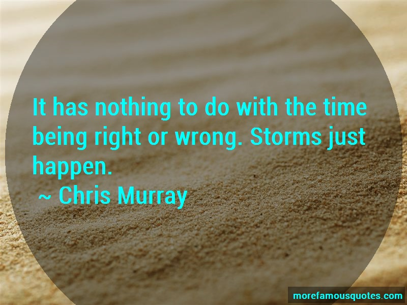 Chris Murray Quotes: It has nothing to do with the time being