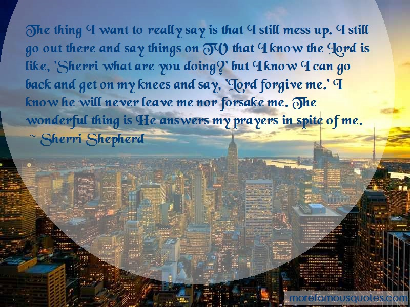 Sherri Shepherd Quotes: The thing i want to really say is that i