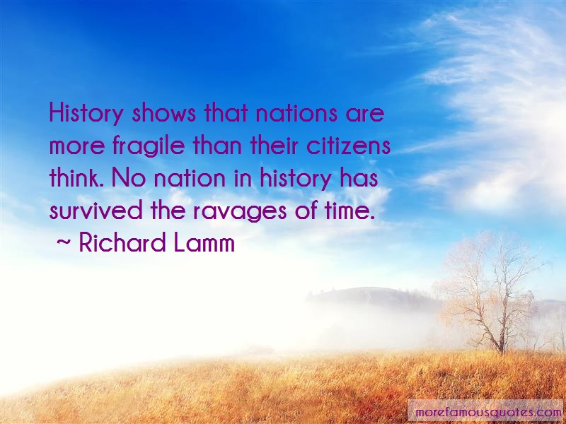 Richard Lamm Quotes: History Shows That Nations Are More