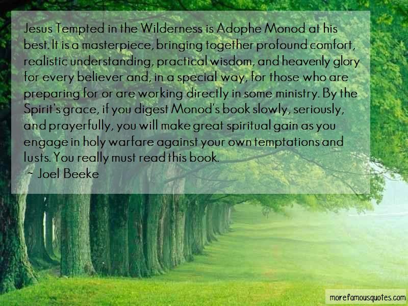 Joel Beeke Quotes: Jesus Tempted In The Wilderness Is