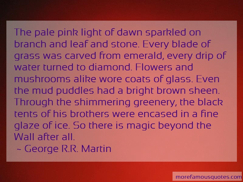 George R.R. Martin Quotes: The Pale Pink Light Of Dawn Sparkled On