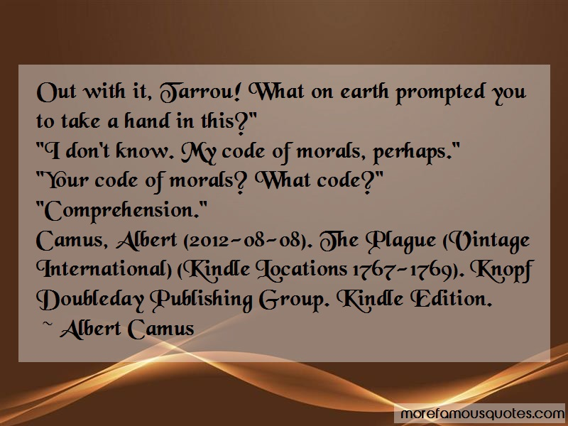 jean tarrou as the only hero on the plague by albert camus