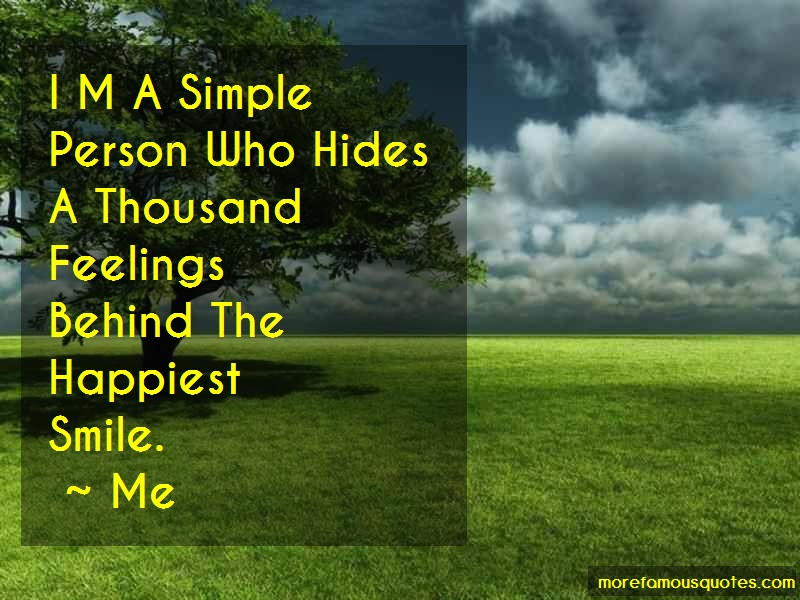 Me Quotes: I M A Simple Person Who Hides A Thousand
