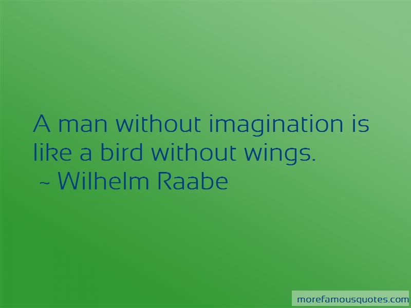 Wilhelm Raabe Quotes: A man without imagination is like a bird