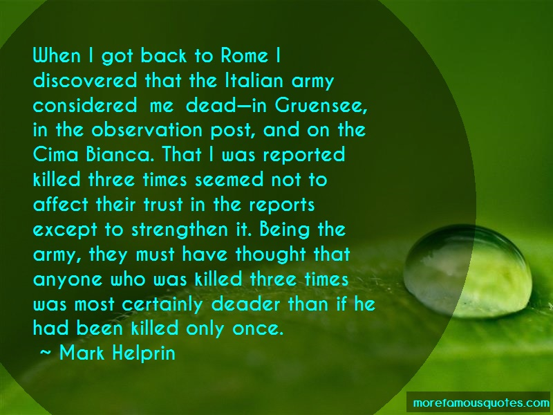 Mark Helprin Quotes: When i got back to rome i discovered