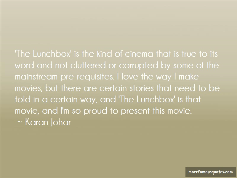Karan Johar Quotes: The lunchbox is the kind of cinema that