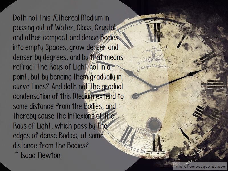 Isaac Newton Quotes: Doth Not This Thereal Medium In Passing