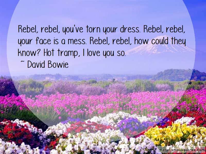 David Bowie Quotes: Rebel Rebel Youve Torn Your Dress Rebel