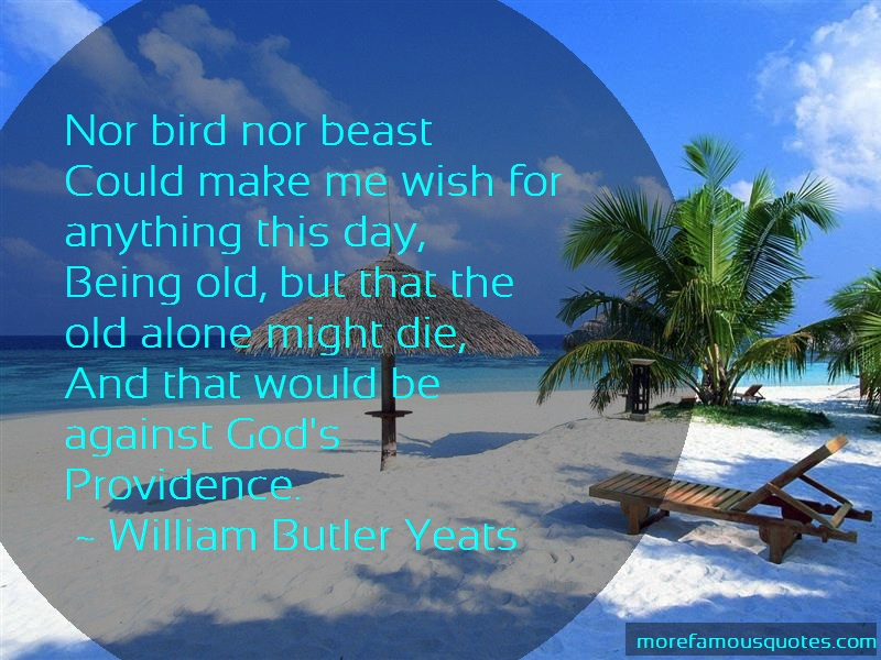 William Butler Yeats Quotes: Nor bird nor beastcould make me wish for