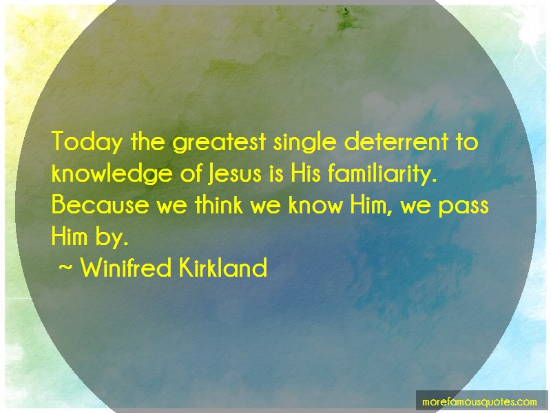 Winifred Kirkland Quotes: Today the greatest single deterrent to