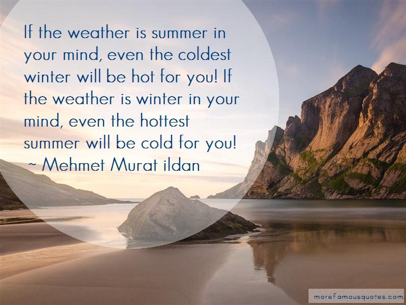 Mehmet Murat Ildan Quotes: If the weather is summer in your mind