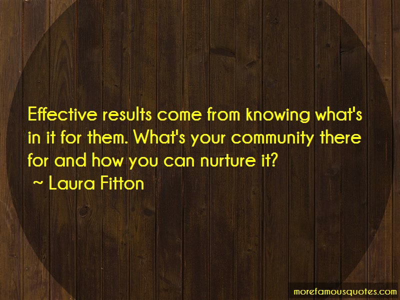 Laura Fitton Quotes: Effective Results Come From Knowing