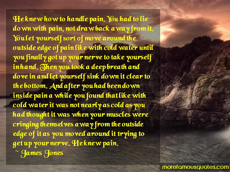 James Jones Quotes: He Knew How To Handle Pain You Had To