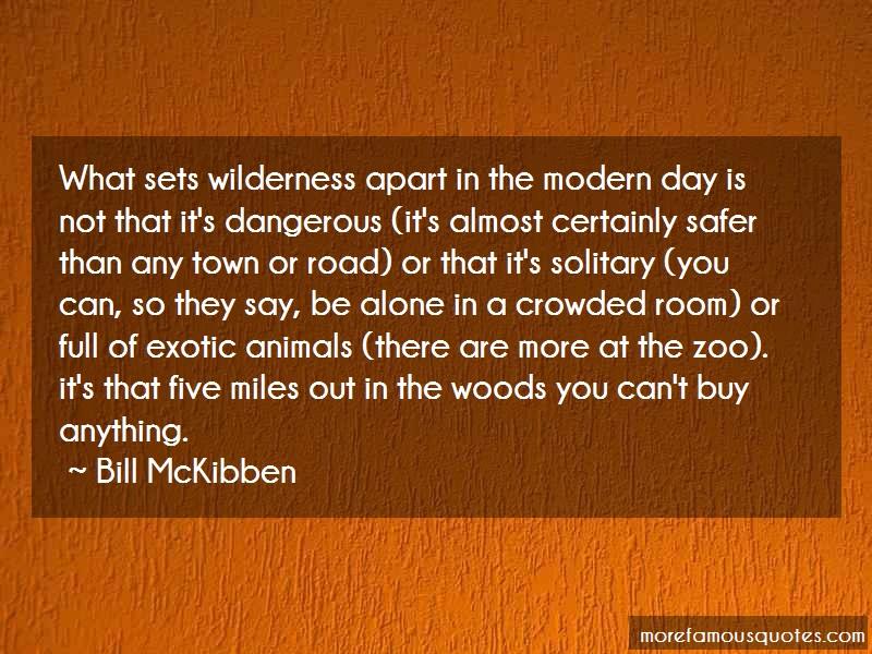 Bill McKibben Quotes: What sets wilderness apart in the modern