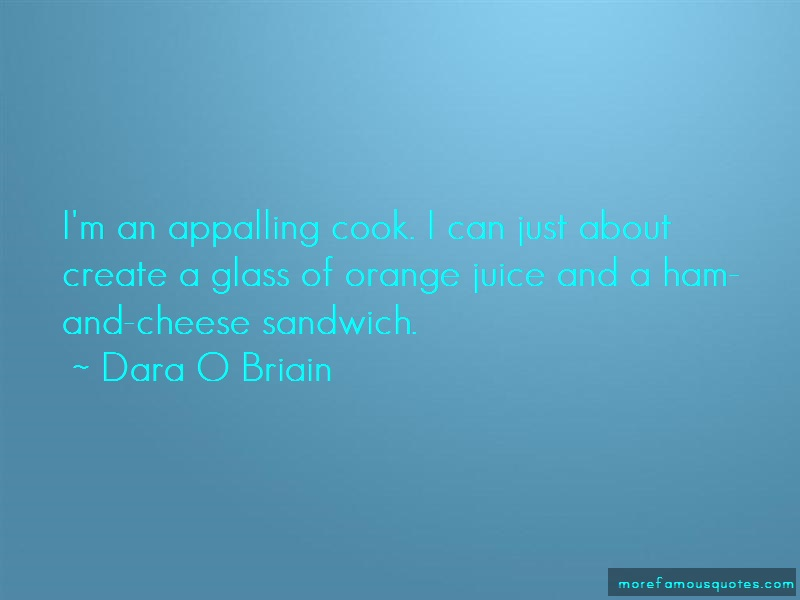 Dara O Briain Quotes: Im an appalling cook i can just about