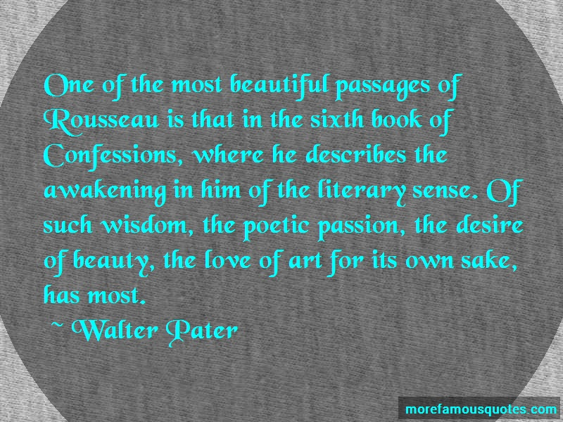 Walter Pater Quotes: One of the most beautiful passages of