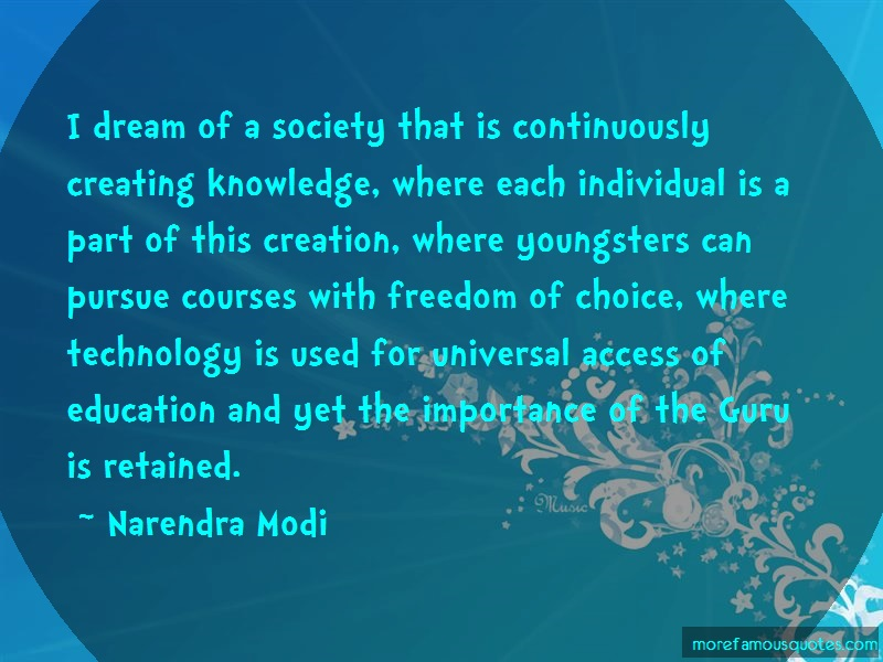 Narendra Modi Quotes: I Dream Of A Society That Is